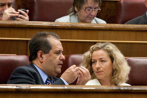 Con Jose Luis Perestelo, durante un Pleno