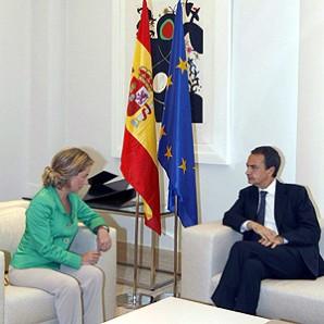 Reunión con el presidente Zapatero en La Moncloa