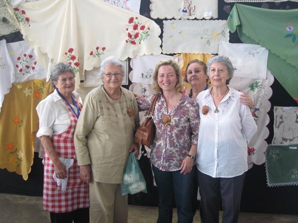 En Venezuela, con un grupo de canarias