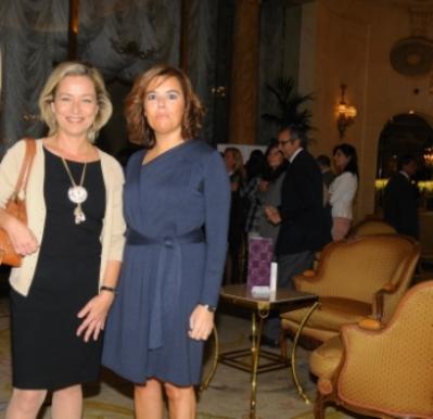 Tras un acto, con Soraya S. de Santamaría