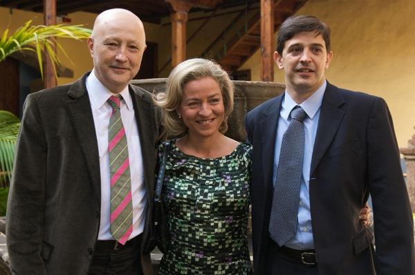 Con Adán y Javi Ortiz el día de mi despedida de alcaldesa