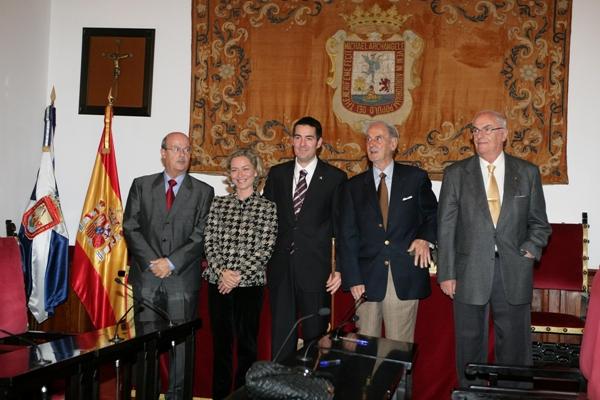 Los alcaldes de la democracia en La Laguna: José Segura, Ana Oramas, Fernando Clavijo, Pedro González y Elfidio Alonso