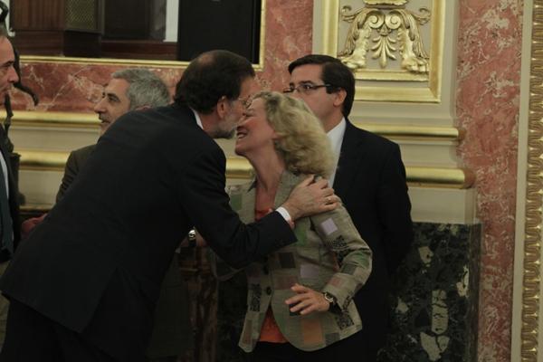Saludando a Mariano Rajoy