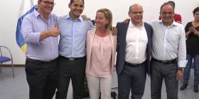Ana Oramas con los candidatos de La Gomera al Congreso y al Senado
