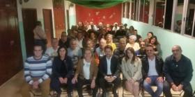 Ana Oramas, Carlos Alonso con simpatizantes y vecinos en Finca España
