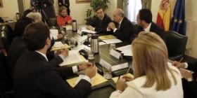 Ana Oramas de Coalicion Canaria asiste a la Comisión de Seguimiento del Pacto de Estado contra el terrorismo yihadista en Ministerio de Interior.