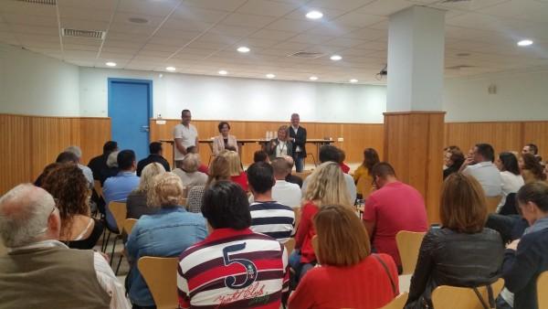 Ana Oramas con Francisco Linares y María de la O Gaspar en Taco
