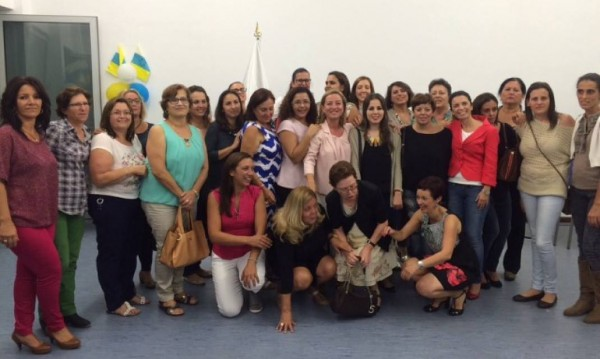 Ana Oramas con las mujeres de La Gomera