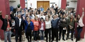 Ana Oramas, candidata de Coalición Canaria para las generales en una reunión con los vecinos del barrio de La Salud a 9 de Diciembre de 2015.