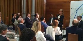 Ana Oramas, con Carlos Alonso y Fernando Clavijo en un encuentro con el sector industrial