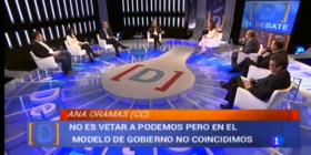 La diputada Ana Oramas en el Debate de la 1 de TVE